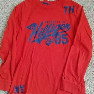 Boys long sleeve Tommy Hilfiger shirt size 8/10